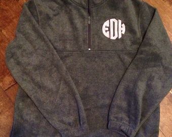 Fabric Monogram 1/4 Fleece Pullover