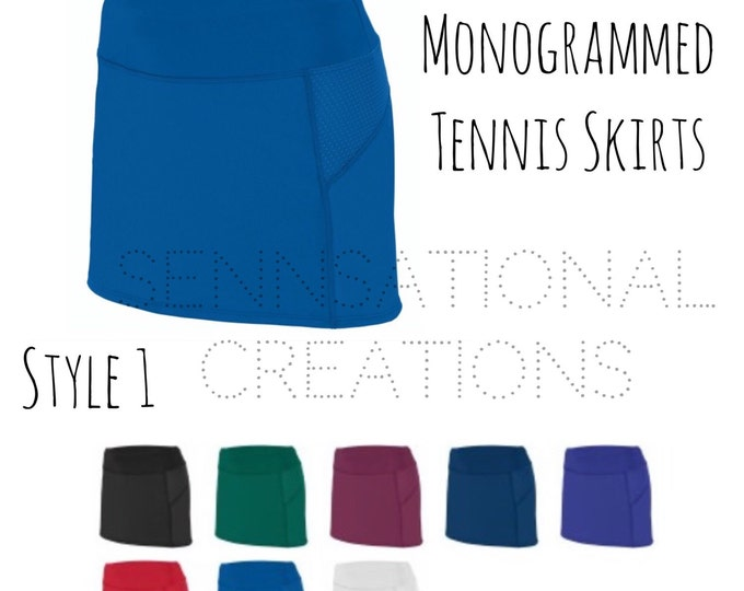 Monogrammed Tennis Skirts, Tennis Gear, Tennis Wear, Golf Skirt, Apparel, Monogrammed Tennis