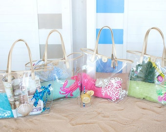 Clear Plastic Pool and Beach Tote