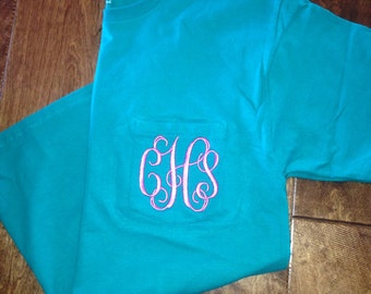 Monogrammed Short Sleeve Pocket Tees