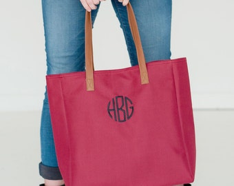 Garnet Tote, Gameday Tote, Monogrammed Tote Bag, Teacher Bag, Work Tote Bag, Travel Bag, Monogrammed Purse, Garnet Purse