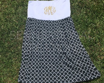 Monogrammed Cover Up, Bridal Wear, Cover Up, Monogrammed Dress, Swimsuit Cover
