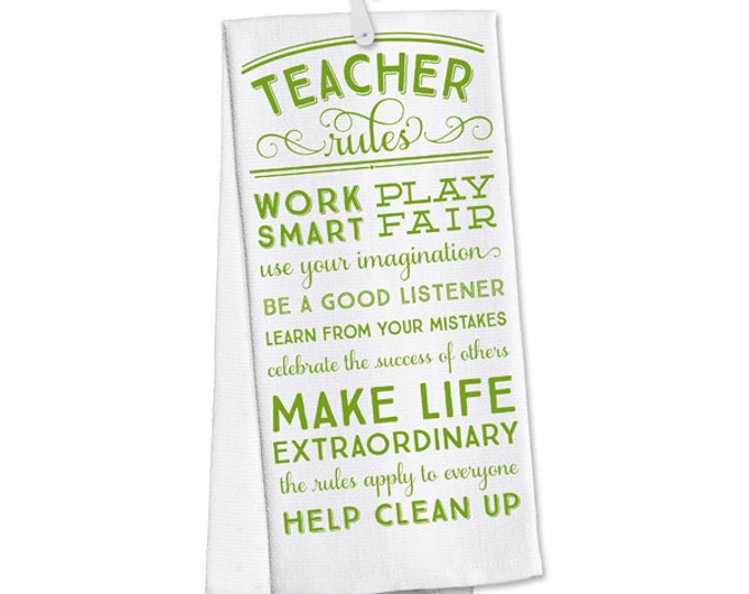 Teacher Towel, Teacher Gift, Personalized Towel, Gift for a Teacher, Kitchen Towel