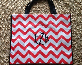 Red Chevron Tote