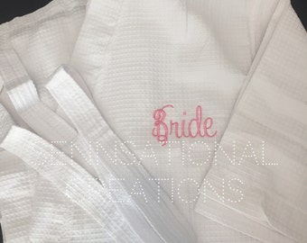 Bridal Robe, Bride Gift, Monogrammed Bride, Monogrammed Bridal Robe, Robe