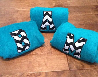 Chevron Initial Towel