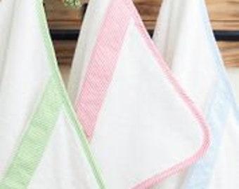 Seersucker Hooded Baby Towel