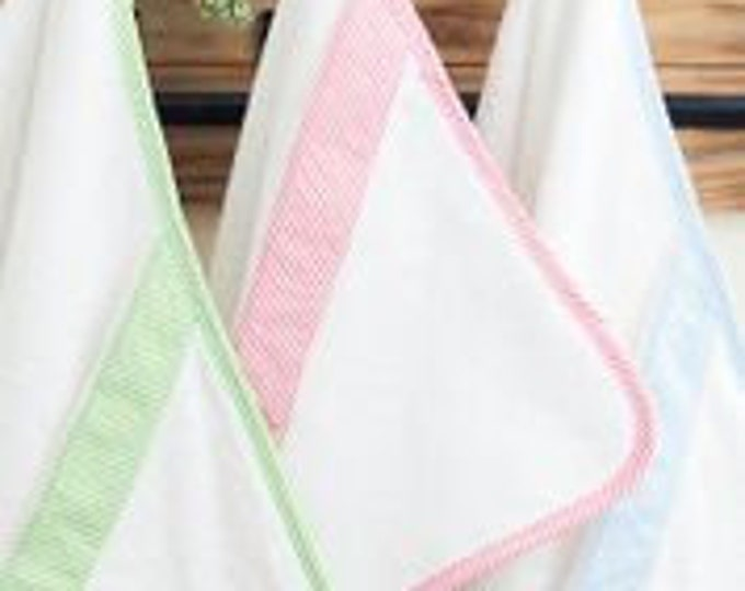 Seersucker Hooded Baby Towel