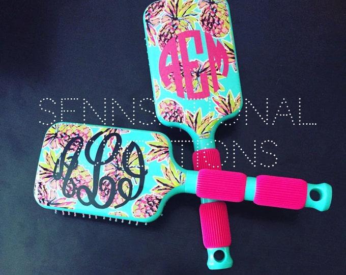 Monogrammed Hair Brush, Hair Brush, Stocking Stuffer, Monogrammed Gift, Gift for Her