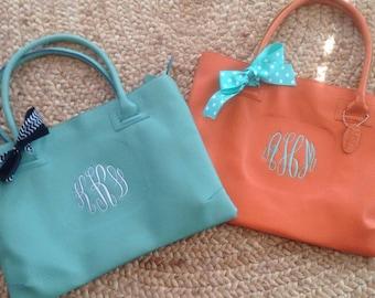 Monogrammed Handbag, Monogrammed Purse, Bridesmaid Gifts, Tote Bag, Monogrammed Tote