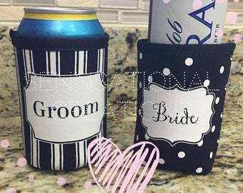 Bride or Groom Can Covers, Personalized Wedding Gift, Engagement Gift, Gift for the Bride, Groom Gift