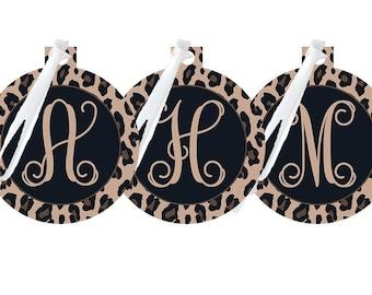 Leopard Monogrammed Ornament