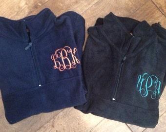 Monogrammed Fleece Pullover, Fleece, Fleece Jacket