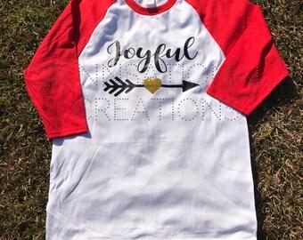 Christmas Shirts, Christmas Saying Shirts, Holiday Shirts, Joyful Shirt, Joyful Arrow Shirt