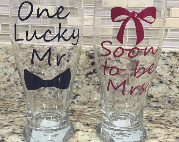 Engagement Glasses, Soon To Be, Engagement Gift