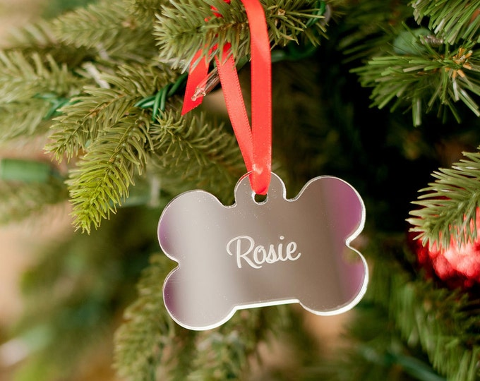 Monogrammed Ornament, Pet Ornament, Personalized Ornament, Cat Gift, Personalized Christmas, Christmas Ornament, Dog Gift