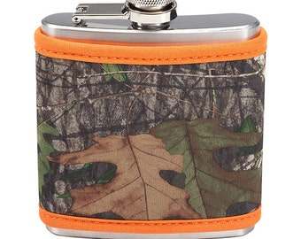 Monogrammed Flask, Camo Flask, Gift for Him, Groomsmen Gift, Flask, Personalized Camouflage, Camouflage Gift
