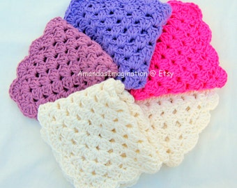 Crochet Dishcloth Pattern Pdf Granny Square Design - USA terms (UK available also) Pretty Washcloth - by Amanda Jane, Ireland
