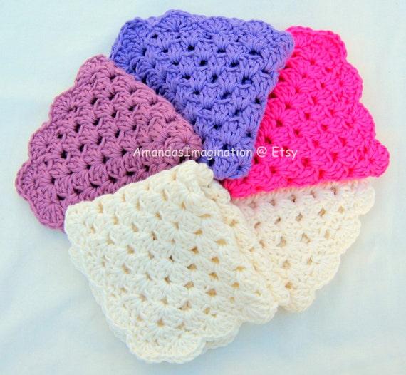 Crochet Dishcloth Pattern Pdf Granny Square Design Usa Terms Etsy