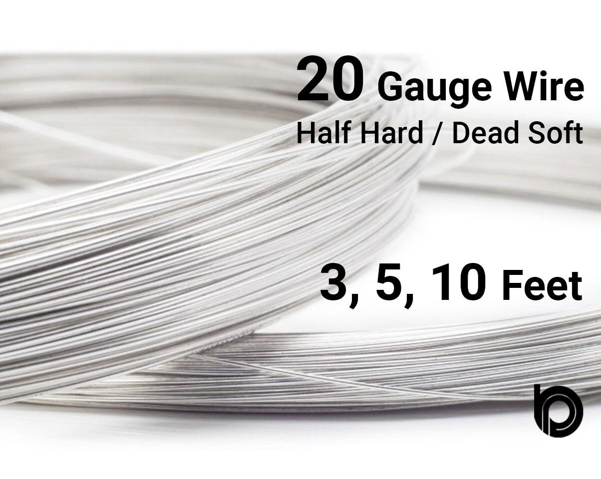 Sterling Silver Round Wire 20 Gauge Wire Half Hard or   Etsy