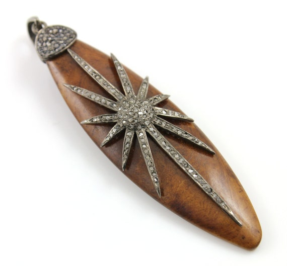 Pendentif diamant de pavé, pavé de bois bois bois Motif pavé, pendentif ovale, Art déco, connecteur ouvrir créateur, pavé de diamant fantaisie, pose de pavé. (PATRIMOINE/HAP/205) 6b09ea