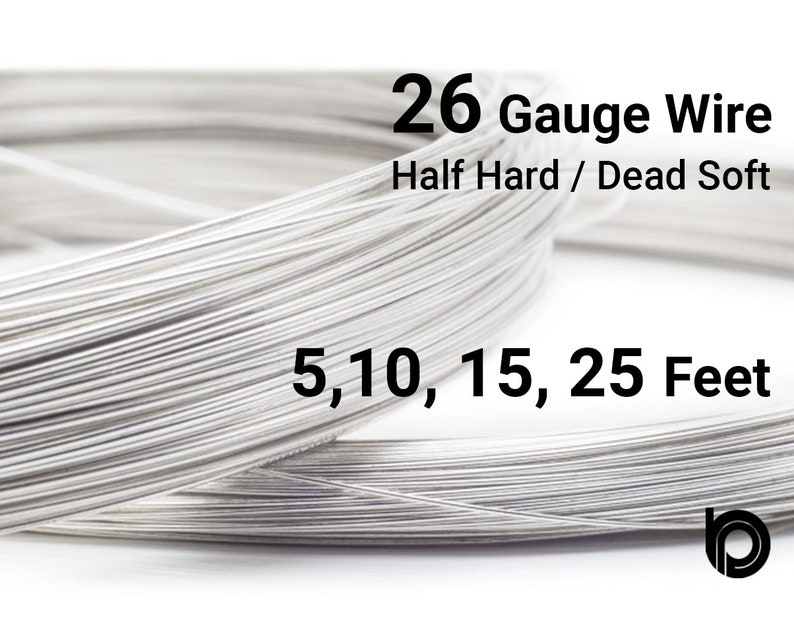 26 Gauge Wire >> Sterling Silver Round Wire 26 Gauge Wire Half Hard Or Dead Soft Wire Wholesale Price Your Choice 5 10 15 25 Feet