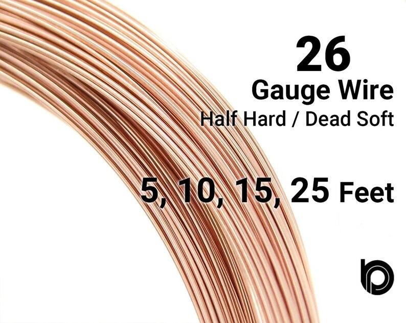 26 Gauge Wire >> Rose Gold Filled Round Wire 26 Gauge Wire Half Hard Or Etsy
