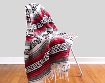 Red Mexican Falsa Blanket