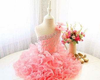 Glitz Pageant Dress Pink Toddler Performing Dress 8c8bfdc0d1c0