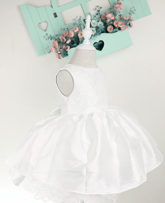 7aca1b145e58 Ivory Flower Girl DressBaby Birthday Party Dress with Ivory