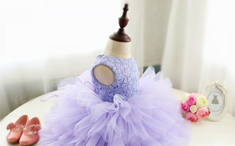 e67dc079ad0f Elegant Purple Pageant Dress Baby Birthday Dress Toddler