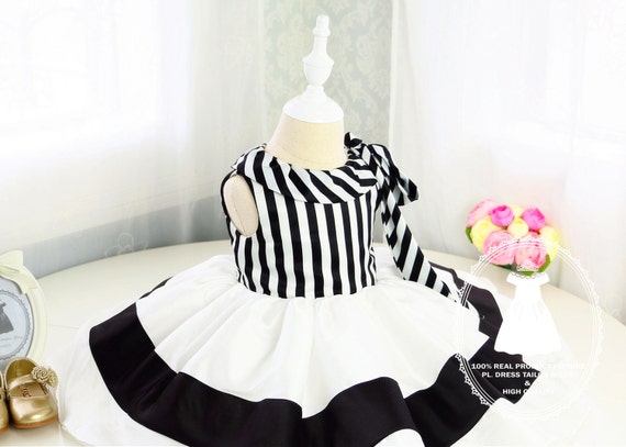 57eff022547d New Style Toddler Halloween Dress with Black and White