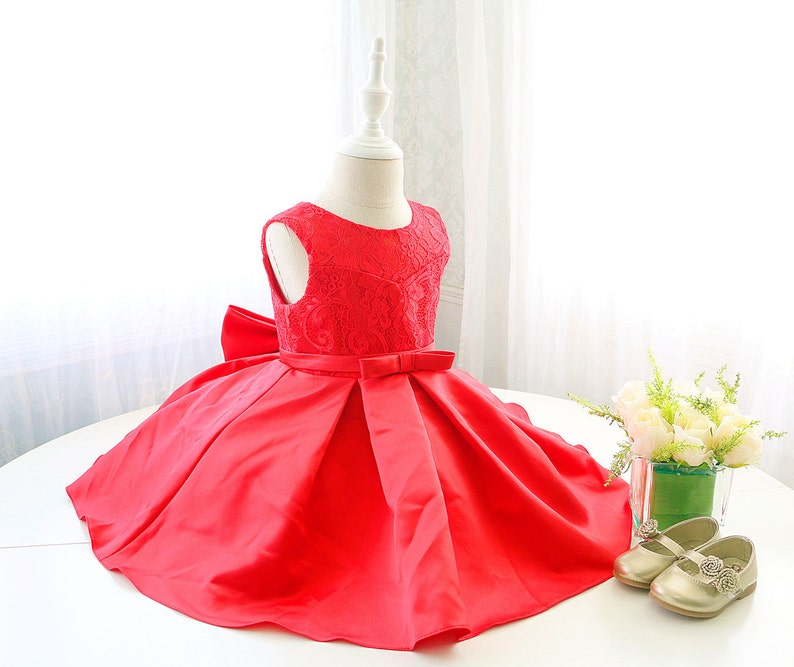 2e40c146a Super Cute Infant Baby Red Christmas Dress Sleeveless Toddler