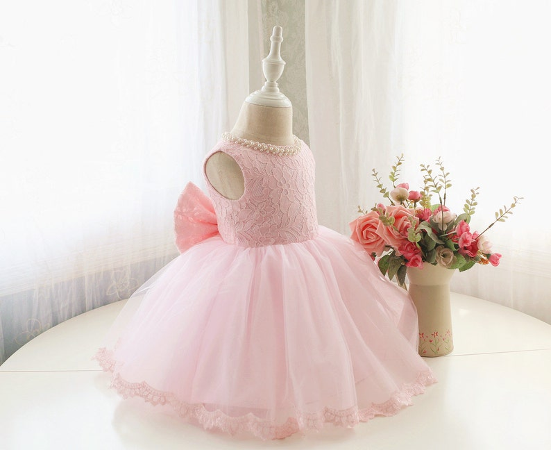938635dc1534 Designed Style Baby Pink Flower Girl Dress Toddler Sleeveless