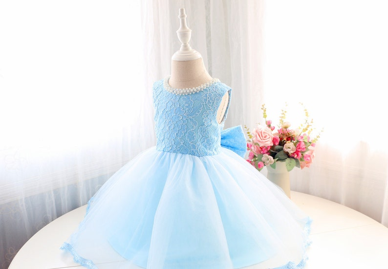 5044eee2c3cc Baby Blue Birthday Dress Infant Couture Dress 1st Birthday