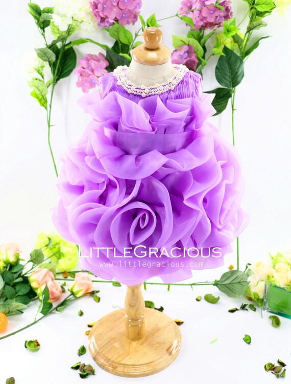 d6f5129afc32 Handmade Infant Pageant Dresses Lavender Baby Birthday Dress