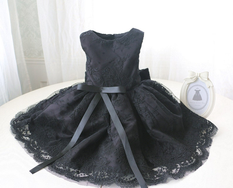 34ec38c62505 Special Black Lace Flower Girl Dress Toddler Glitz Pageant