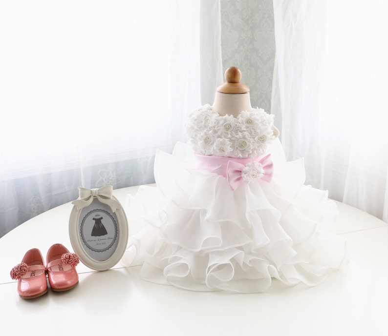 025991ae9c31 Handmade Ivory Flower Girl Dress Baby Thanksgiving Dress