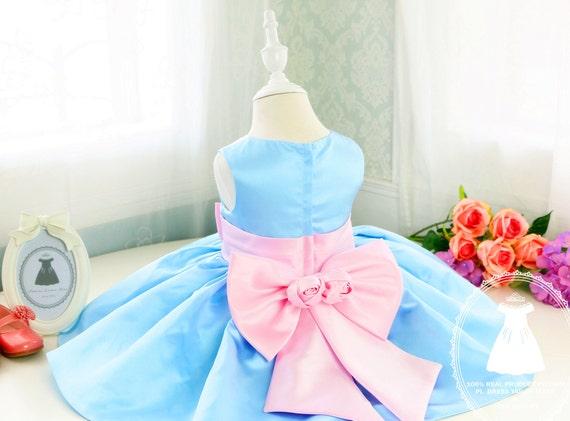 8d224c3a2 Light Ocean Blue Fancy Baby Girl Thanksgiving Dress Baby