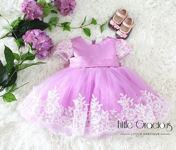 68c92eb37e38 Lavender pageant dress Toddler Easter Dress in Lace Baby Girl