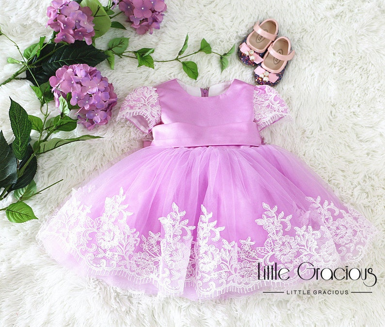 d10a0a953 Lavender pageant dress Toddler Easter Dress in Lace Baby Girl