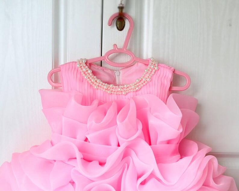 b484640d9 Baby Pink Toddler Thanksgiving Dress Birthday Dress Baby