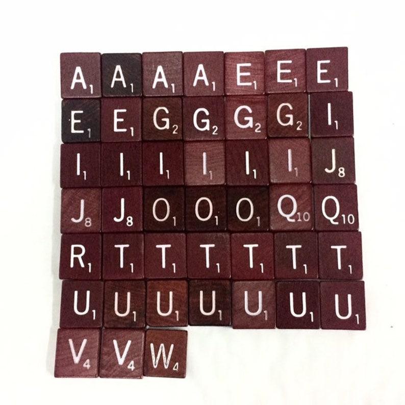 Authenic Scrabble Tile Lot Scrabble Letter Lot Deluxe image 0