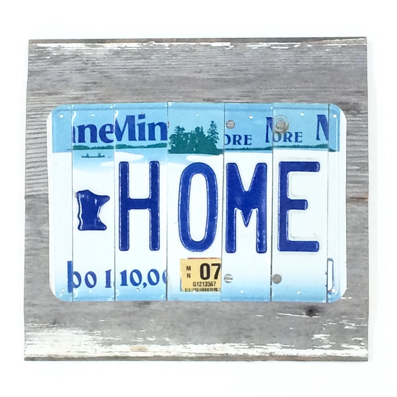 License Plate Sign Minnesota Home Sign License Plate Art image 0