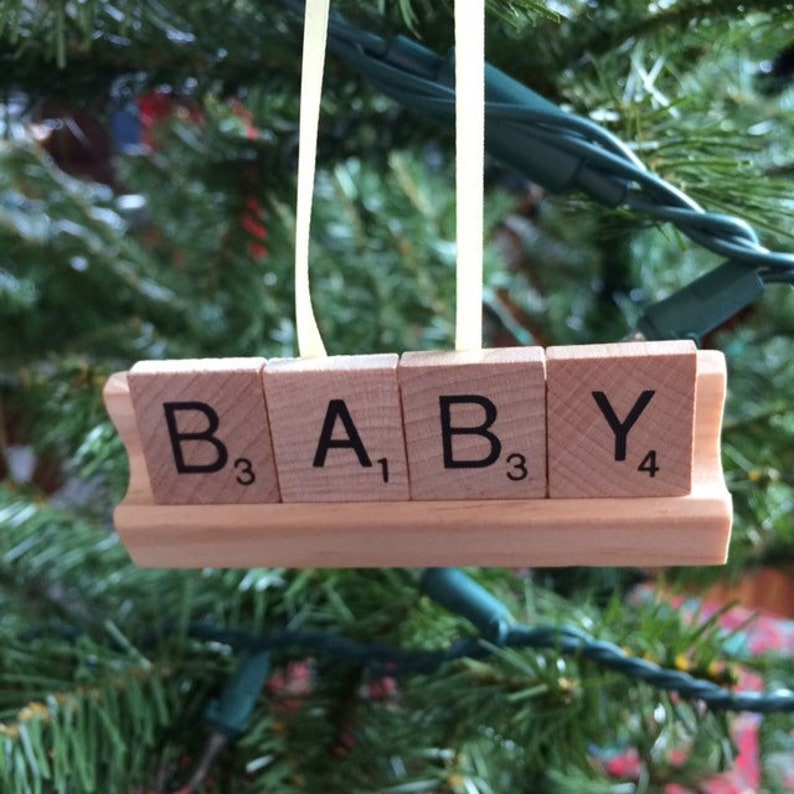 CUSTOM Ornament Baby Name Ornament Family Name Gift Pets image 0