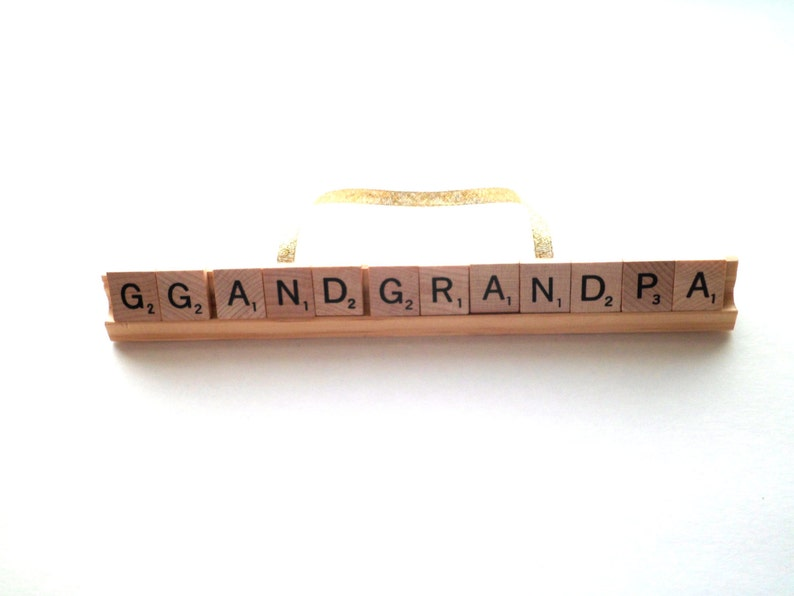 CUSTOM Long Scrabble Ornament Extra Large Ornament Childs image 0