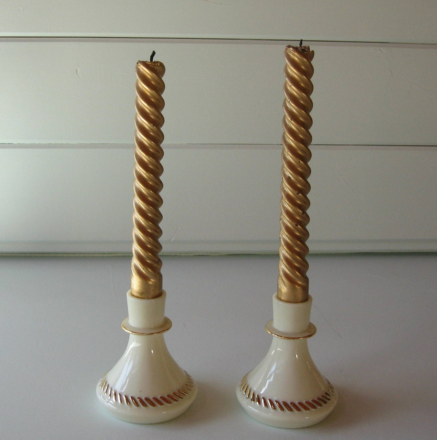 Candlestick from natural materials 29