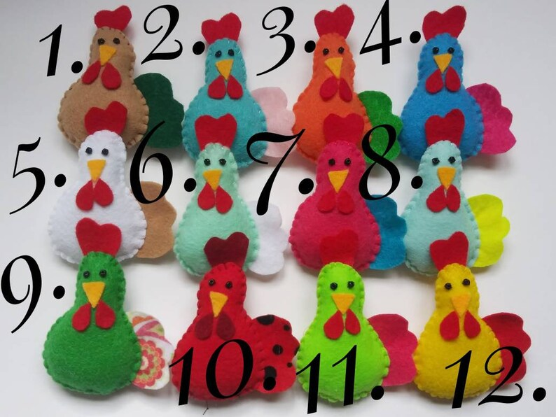 Chicken ornaments-Chicken home decor-Spring Country decor-Chicken bowlfillers-Easter or Christmas ornaments-Country home decor
