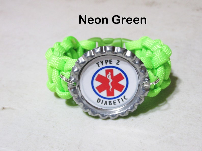 Diabetic Bracelet! Medical Bracelet Type 2 Diabetes Bracelet Type 1 Diabetes Bracelet Medical Diabetes Alert Paracord Bracelet