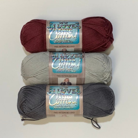 6 X 85g I Love This Cotton Aran Yarn Colour Christmas 2